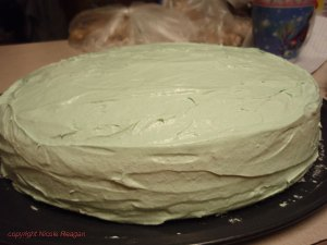 Green ginger ale cake